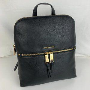 New Michael Kors Rhea Medium Leather Slim Backpack